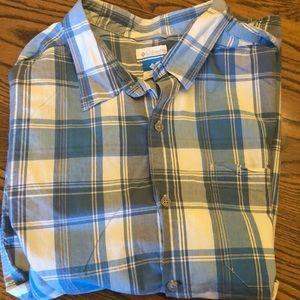 XXL Columbia men's short sleeve button down shirt